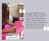 I believe that we are all most effective in the areas that we have been the most affected. I was diagnosed with breast cancer at the age of 28, it was devastating. However, I've taken that pain and that experienc